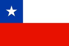 Vlag van Chili stock illustratie