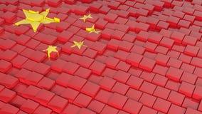Vlag van China Royalty-vrije Stock Afbeeldingen