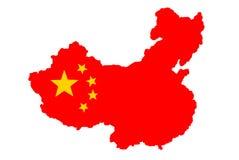 Vlag van China royalty-vrije illustratie