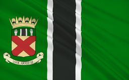 Vlag van Clackmannanshire-raad van Schotland, het Verenigd Koninkrijk van stock illustratie