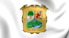 Vlag van Coahuila, Mexico Stock Foto