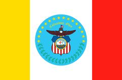 Vlag van Columbus in Ohio, de V.S. vector illustratie