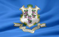 Vlag van Connecticut vector illustratie