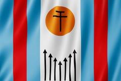 Vlag van Corrientes-stad, Argentinië Stock Foto's