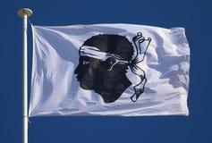 Vlag van Corsica stock afbeeldingen