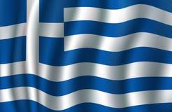 Vlag van 3d vector, Griekse blauwe, witte banner van Griekenland stock illustratie