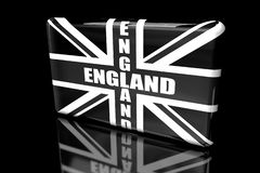 Vlag van 3D volumetrisch van Groot-Brittannië royalty-vrije illustratie