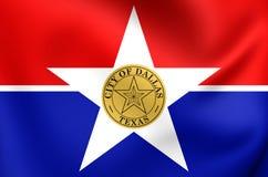 Vlag van Dallas City, Texas Stock Afbeeldingen