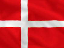 Vlag van Danmark Stock Afbeelding