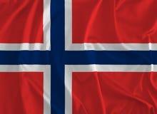 Vlag van de Achtergrond van Noorwegen royalty-vrije illustratie