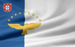 Vlag van de Azoren vector illustratie