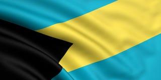Vlag van de Bahamas Stock Afbeelding