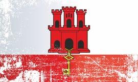 Vlag van de Britse gebieden overzee Gibraltar royalty-vrije stock afbeeldingen