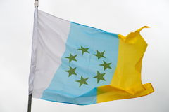 Vlag van de Canarische Eilanden Royalty-vrije Stock Afbeeldingen