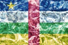 Vlag van de Centraalafrikaanse Republiek Stock Afbeeldingen