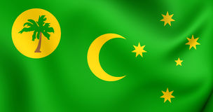 Vlag van de Cocos-Eilanden vector illustratie
