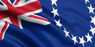Vlag van de Cook Eilanden Stock Afbeelding