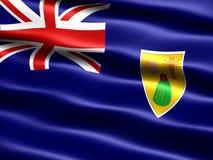 Vlag van de de Turken en Caicos Eilanden Stock Afbeeldingen
