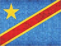 Vlag van de Democratische Republiek de Kongo Royalty-vrije Stock Foto's