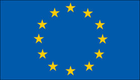 Vlag van de Europese Unie Stock Fotografie