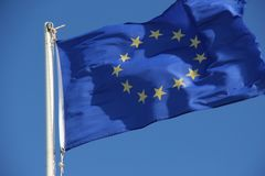 Vlag van de Europese Unie Stock Afbeelding