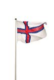 Vlag van de Faeröer Royalty-vrije Stock Foto's