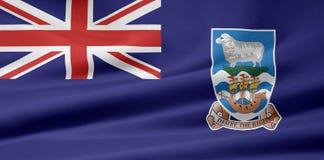 Vlag van de Falkland Eilanden stock illustratie