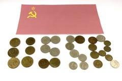 Vlag van de het muntstukvlag van de USSR stock foto