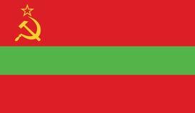 Vlag van de illustratie van het transnistriapictogram Royalty-vrije Stock Afbeelding