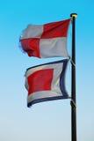 Vlag van de internationale signaalvlag stock foto