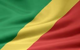 Vlag van de Kongo stock illustratie