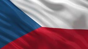 Vlag van de naadloze lijn van de Tsjechische Republiek stock videobeelden