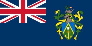 Vlag van de Pitcairn Eilanden vector illustratie