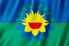 Vlag van de Provincie van Buenos aires, Argentinië Royalty-vrije Stock Afbeeldingen