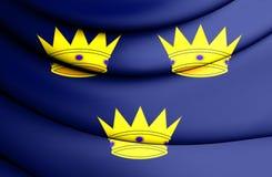 Vlag van de Provincie van Munster, Ierland vector illustratie