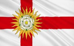 Vlag van de provincie van West-Yorkshire, Engeland royalty-vrije illustratie