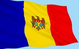 Vlag van de Republiek Moldavië stock afbeelding