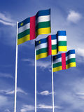 Vlag van de Republiek van Cenral de Afrikaanse Royalty-vrije Stock Foto