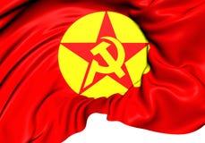 Vlag van de Revolutionaire partij-Voorzijde DHKP/C van de Mensen` s Bevrijding Royalty-vrije Stock Afbeeldingen