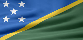 Vlag van de Salomon Eilanden royalty-vrije illustratie