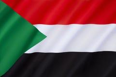 Vlag van de Soedan Royalty-vrije Stock Afbeeldingen