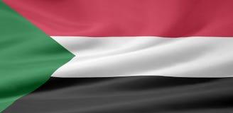 Vlag van de Soedan stock illustratie
