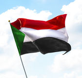 Vlag van de Soedan Stock Afbeeldingen