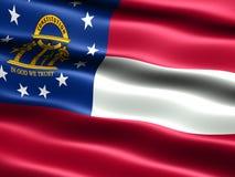 Vlag van de staat Georgië Royalty-vrije Stock Foto