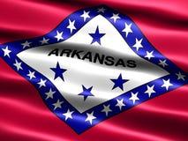 Vlag van de staat van Arkansas Stock Fotografie