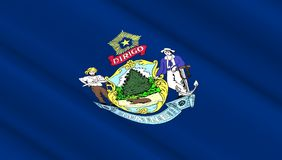 Vlag van de staat van het Westenmaine Stock Fotografie
