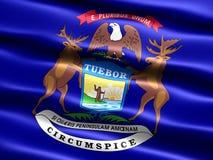 Vlag van de staat van Michigan Stock Fotografie