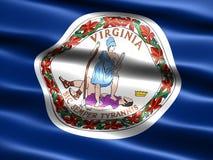 Vlag van de staat van Virginia Stock Afbeelding