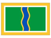 Vlag van de Stad van La Vella van Andorra vector illustratie