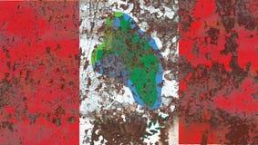 Vlag van de de stadsrook van Cumberland de Hoofd, de Staat van New York, Verenigde Staten O Stock Afbeeldingen